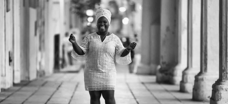 Cuban musical artist Daymé Arocena