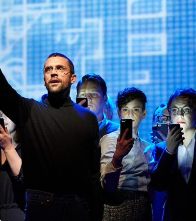 "The Screens Steal the Scene at ""The (R)evolution of Steve Jobs"""
