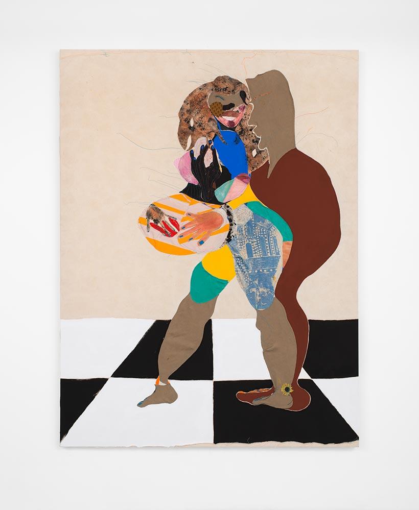 """Tschabalala Self, """"Bellyphat"""" (2016)"""