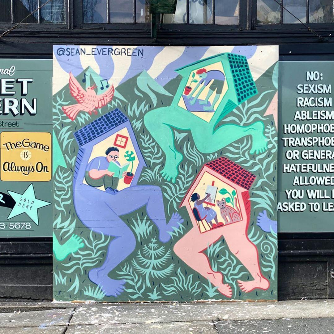 Sean David Williams Mural at The Comet Tavern